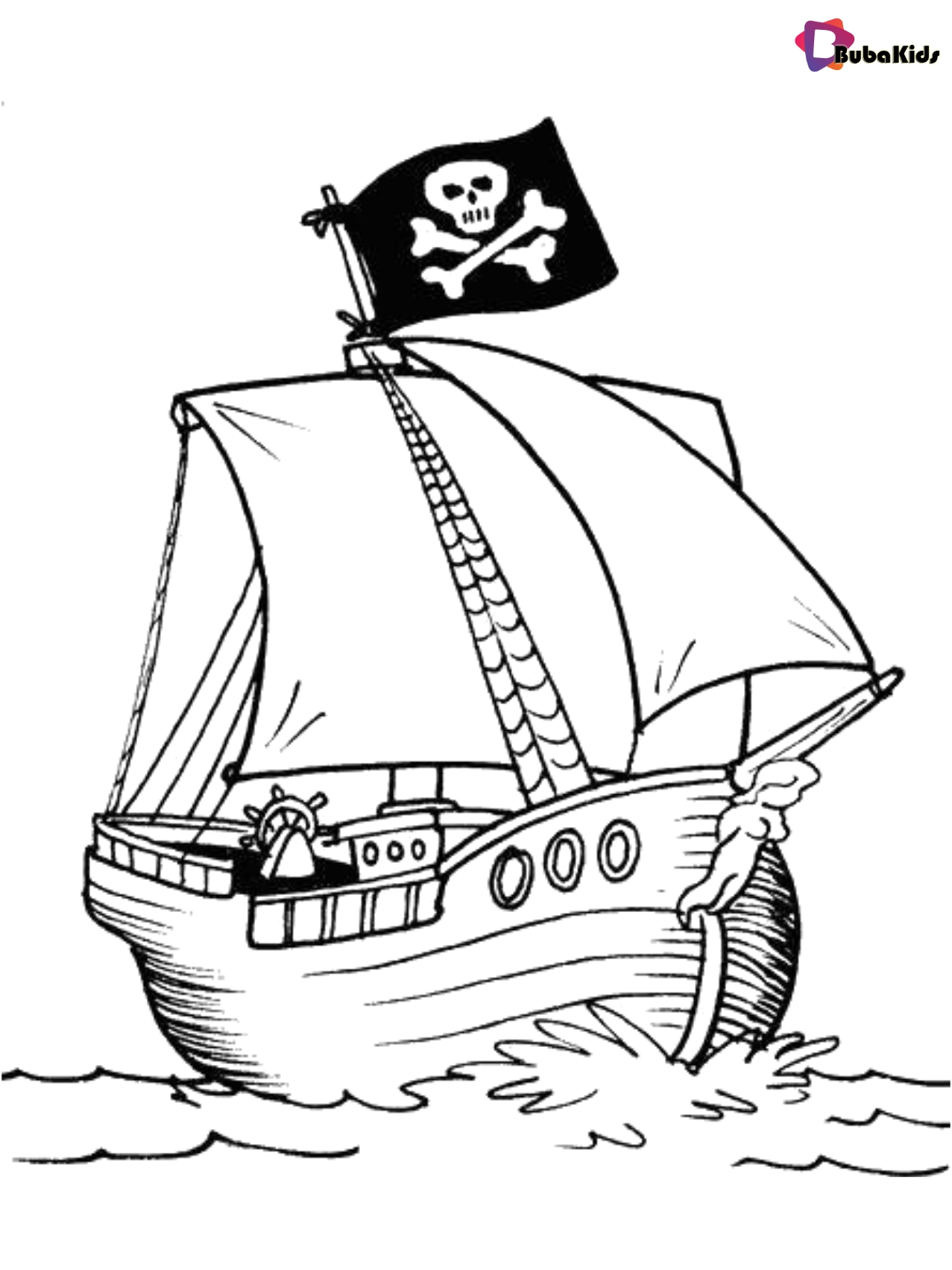 bible ship coloring page coloring picture pirate ship free printable bubakidscom page ship bible coloring