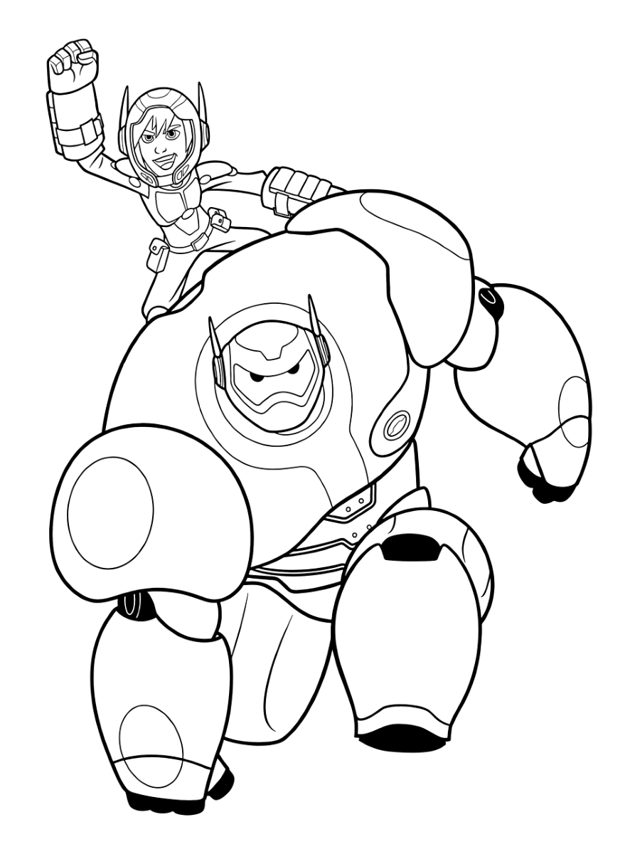 big hero 6 coloring pages big hero 6 coloring pages print and colorcom coloring hero big 6 pages