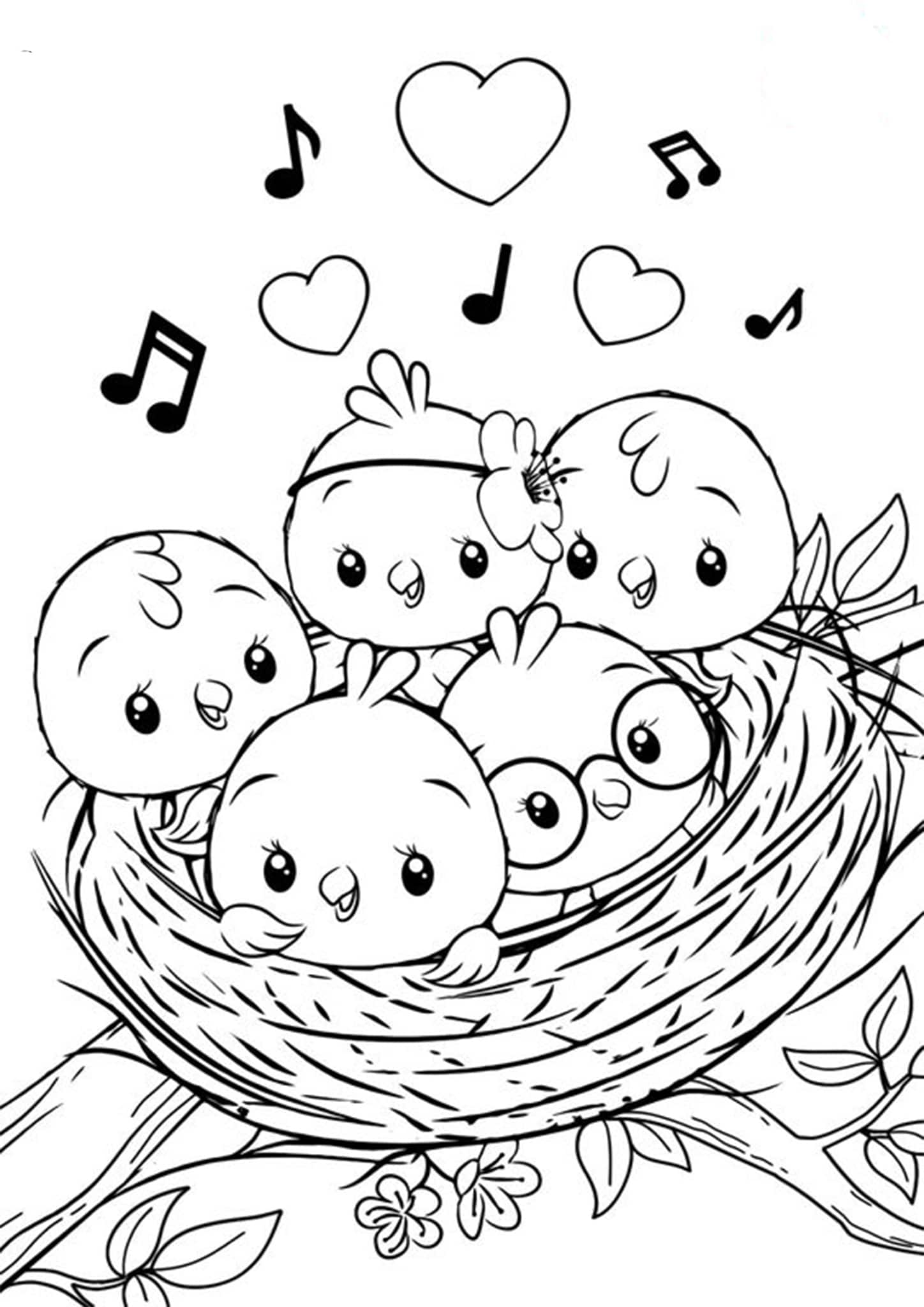 bird color pages free easy to print bird coloring pages tulamama bird pages color