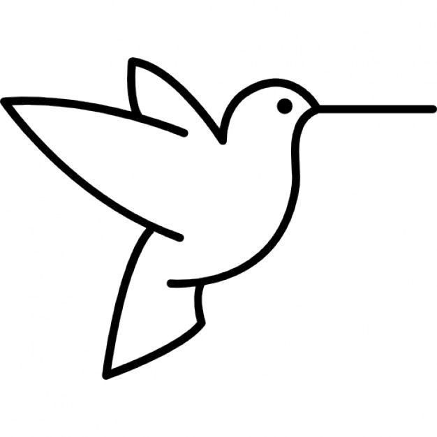 bird outlines humming bird outline from side view icons free download bird outlines