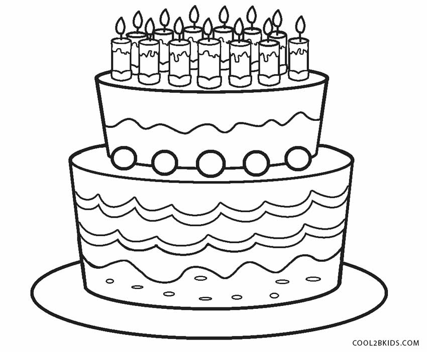 birthday cake pictures to color free 1st birthday cake coloring page for kids holiday coloring birthday free pictures to color cake