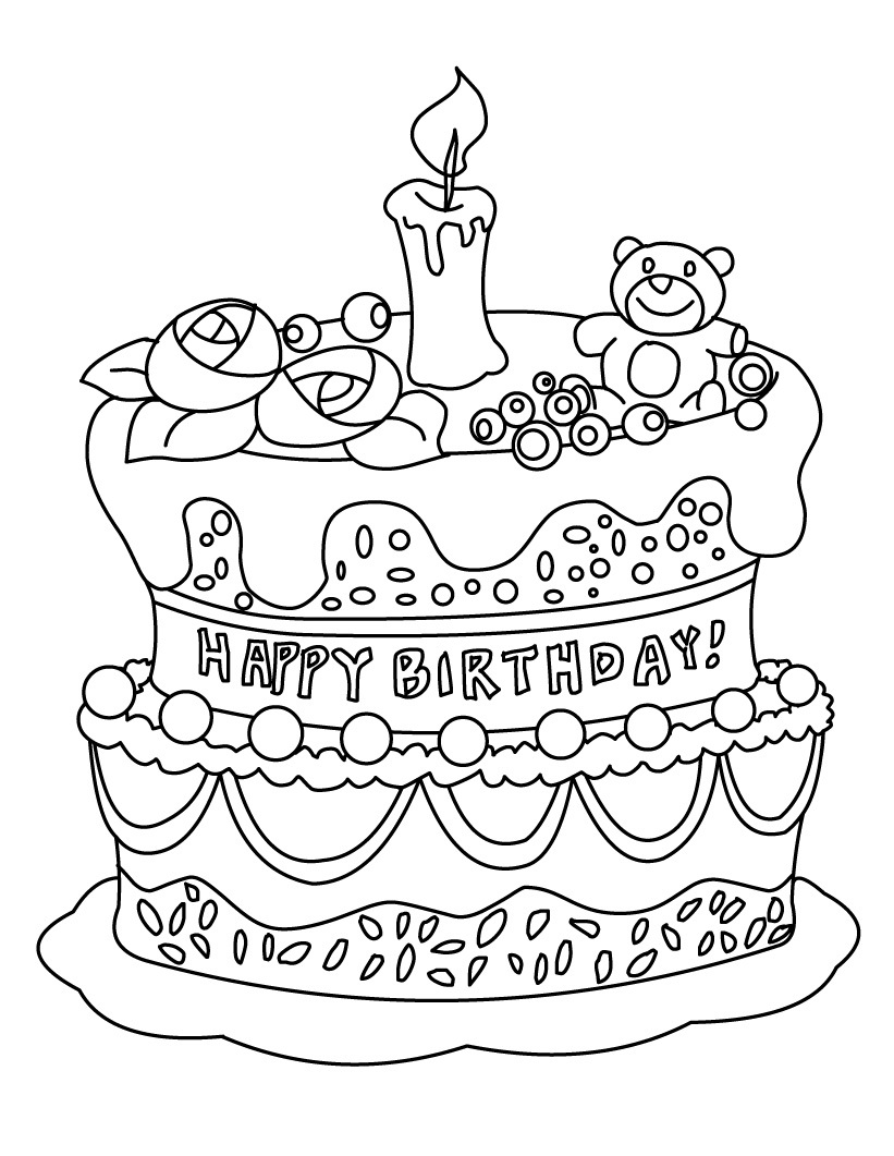 birthday cake pictures to color free birthday cake coloring pages preschool at getcoloringscom birthday free cake color to pictures