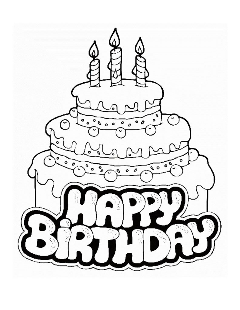 birthday cake pictures to color free free printable birthday cake coloring pages for kids birthday pictures free to color cake