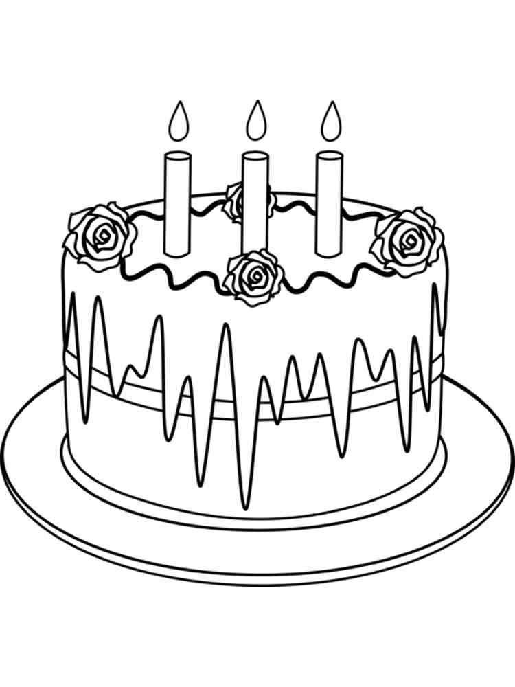 birthday cake pictures to color free free printable birthday cake coloring pages for kids color free to cake pictures birthday
