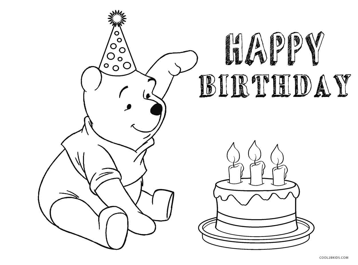 birthday cake pictures to color free free printable birthday cake coloring pages for kids pictures free birthday to color cake
