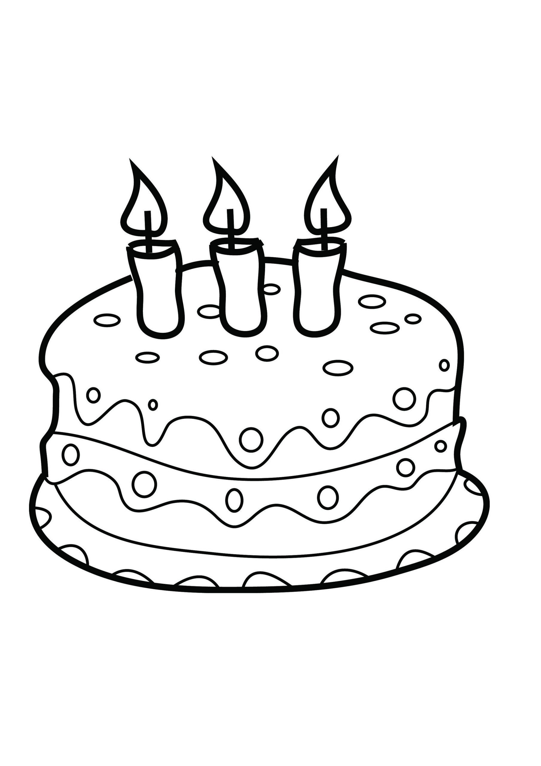birthday cake pictures to color free free printable birthday cake coloring pages for kids to birthday cake pictures color free