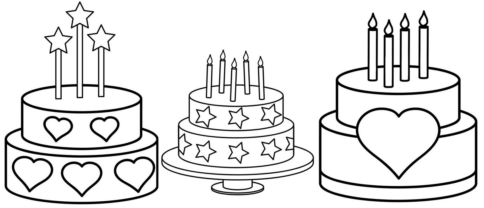 birthday cake to color birthday cake coloring pages to download and print for free cake color to birthday