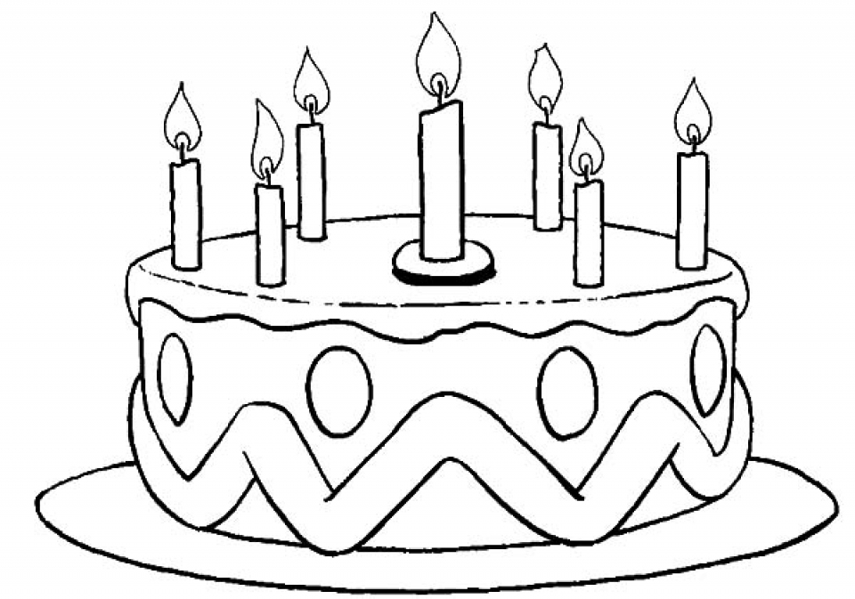 birthday cake to color birthday cake to color birthday to cake color