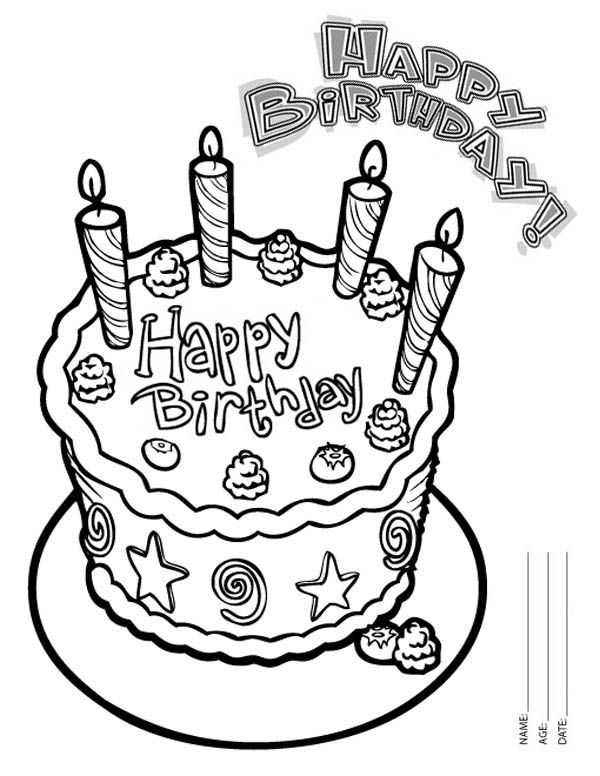 birthday cake to color get this birthday cake coloring pages free printable 9466 birthday to cake color