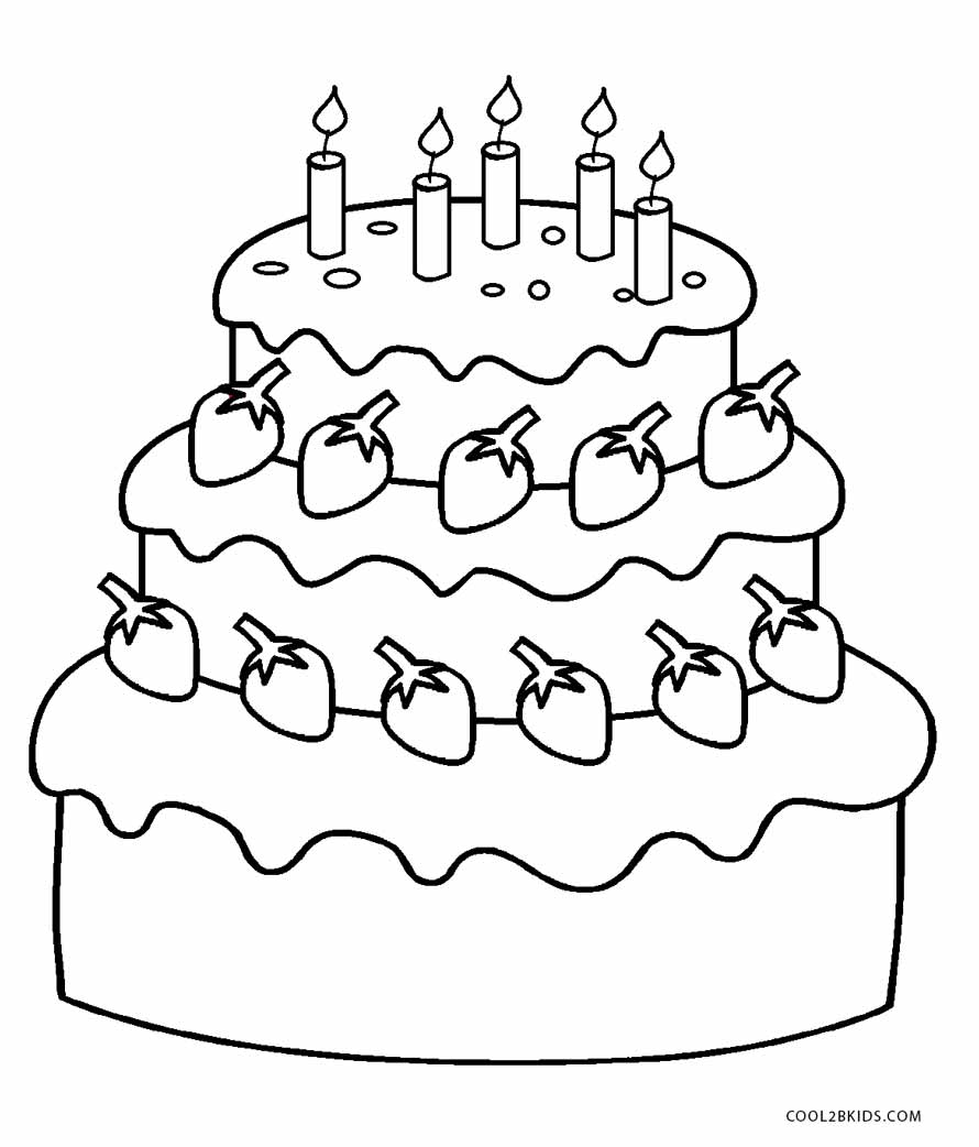 birthday cake to color get this free birthday cake coloring pages 46159 birthday cake to color