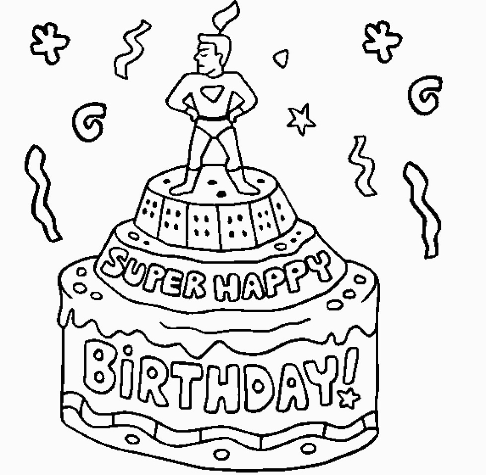 birthday cake to color the best free single drawing images download from 1290 to cake color birthday