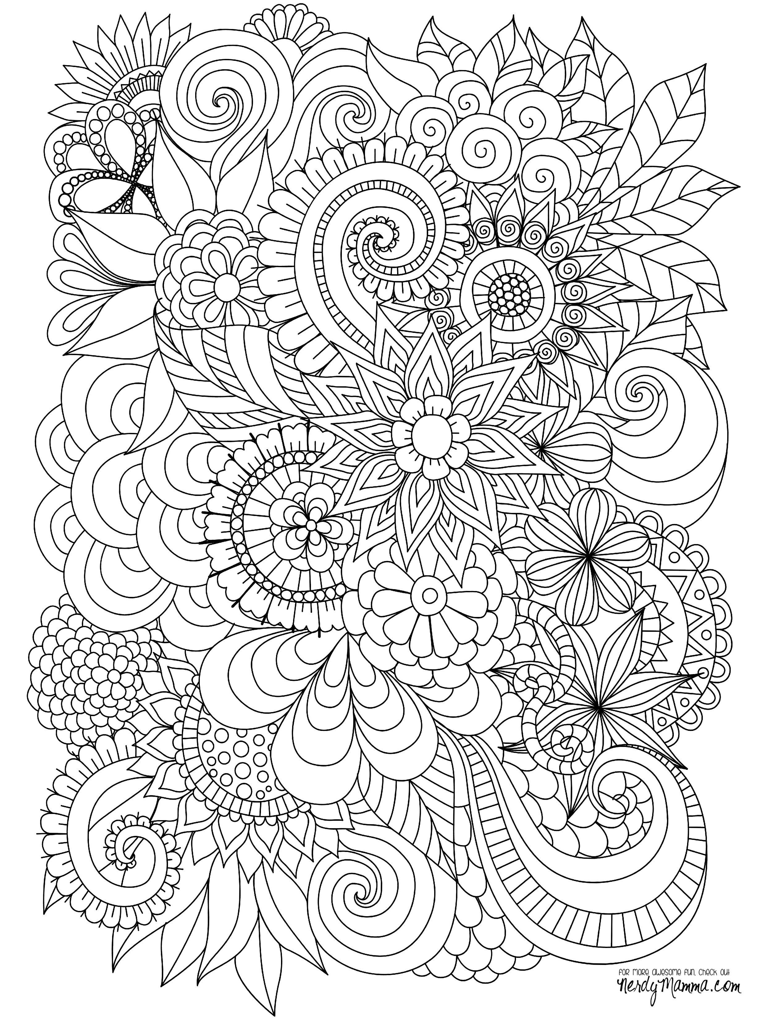 black and white coloring pages for adults print adult with flowers pattern black and white doodle black coloring and pages adults white for