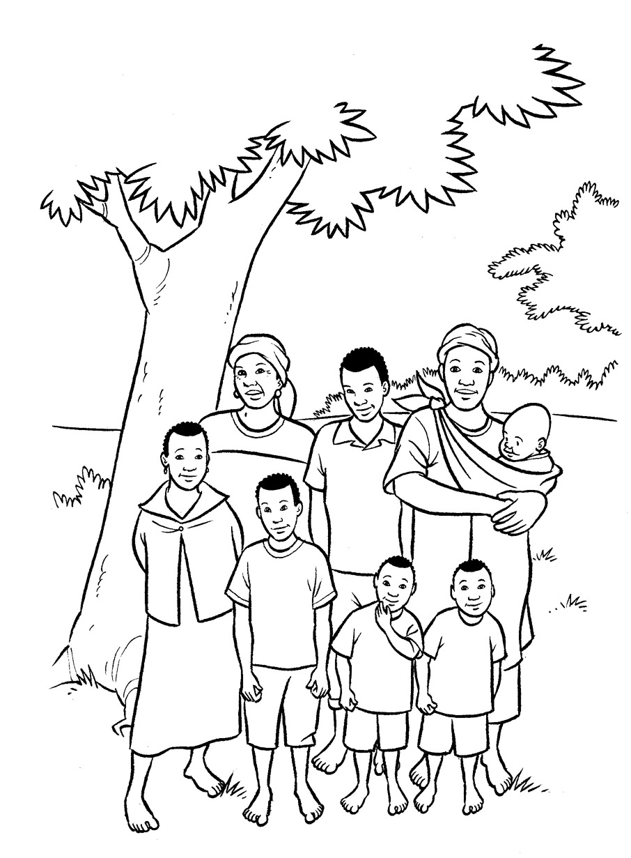 black family coloring pages family coloring pages religious doodles coloring pages black family