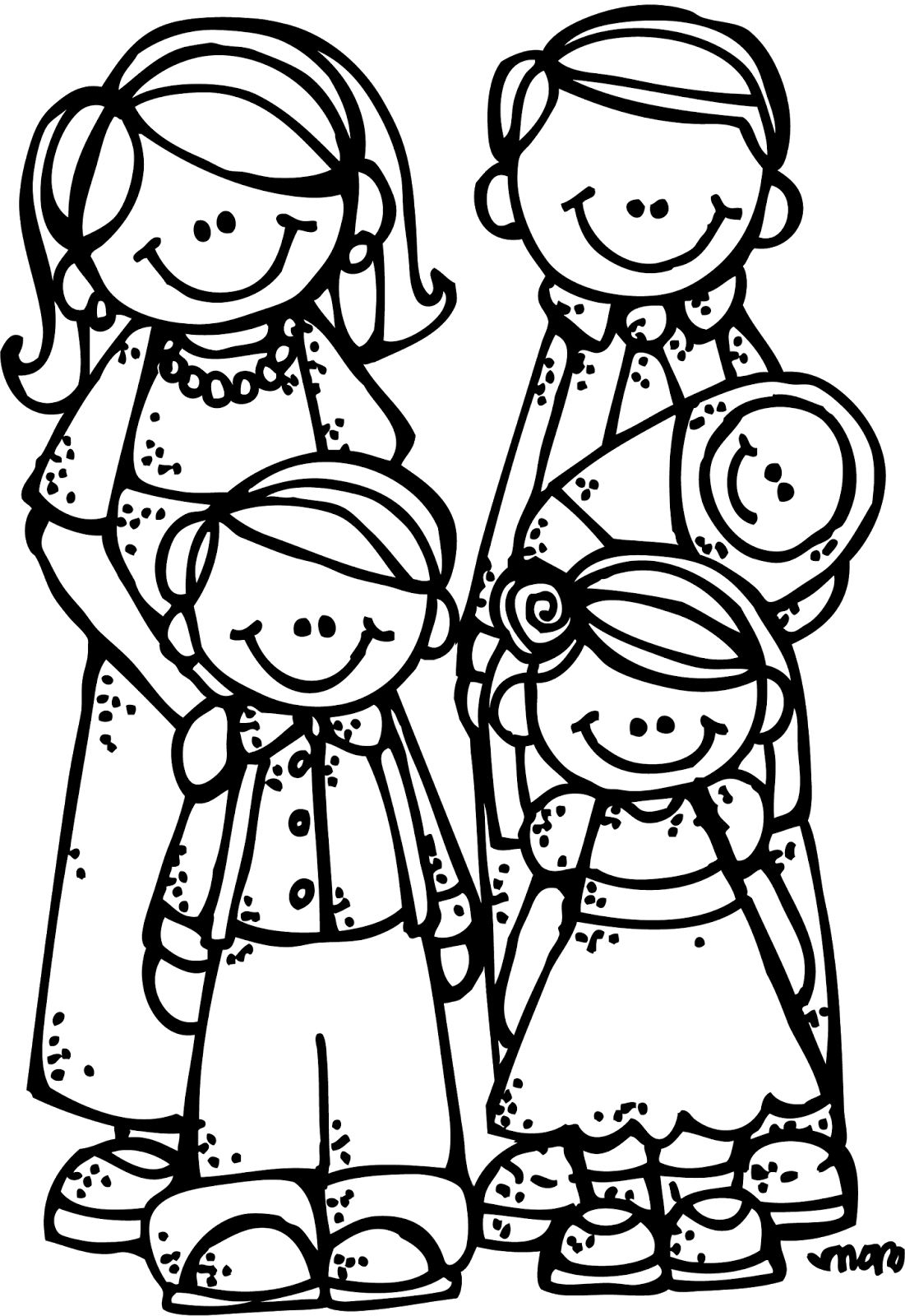 black family coloring pages lds clipart black and white family home evening google black coloring family pages