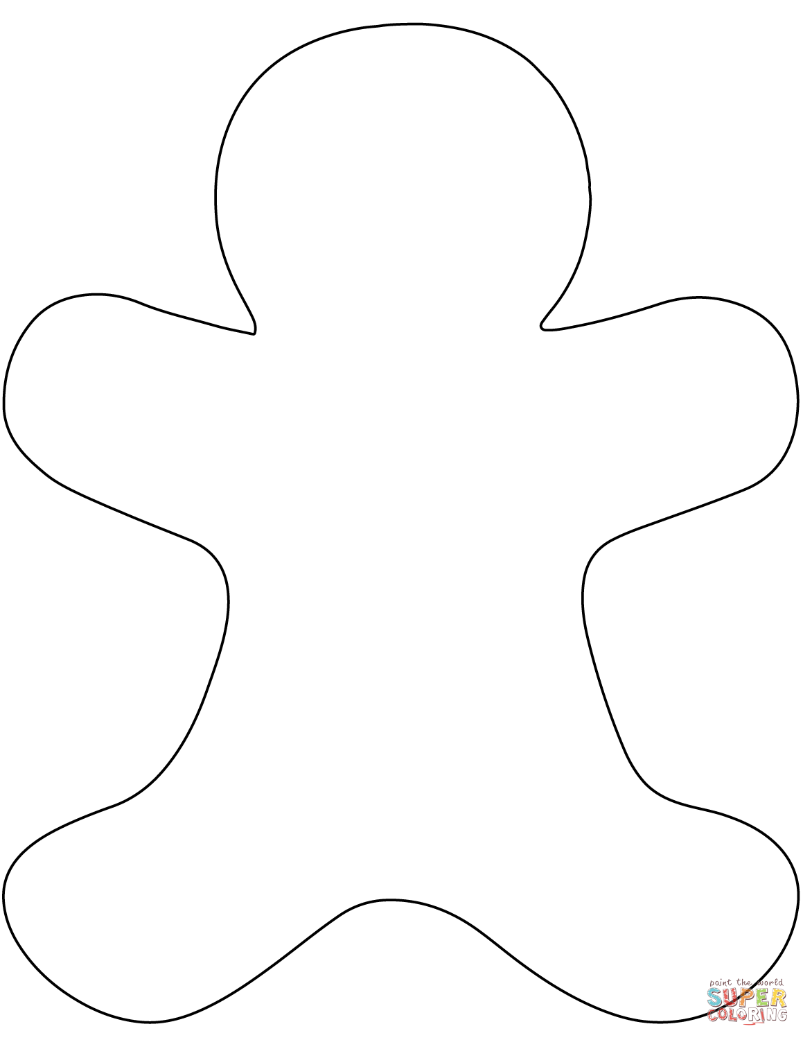 blank gingerbread man coloring page blank gingerbread man template gingerbread man coloring man page coloring blank gingerbread