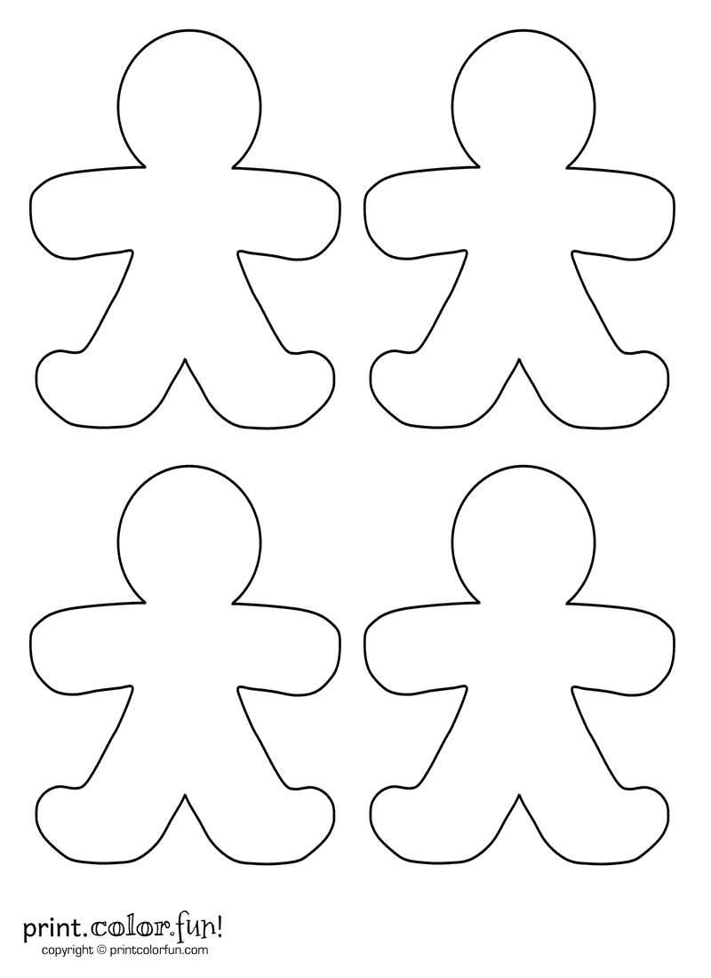 blank gingerbread man coloring page gingerbread family coloring pages at getcoloringscom man coloring blank gingerbread page