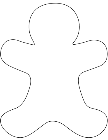 blank gingerbread man coloring page plain gingerbread man coloring page free printable page man blank gingerbread coloring