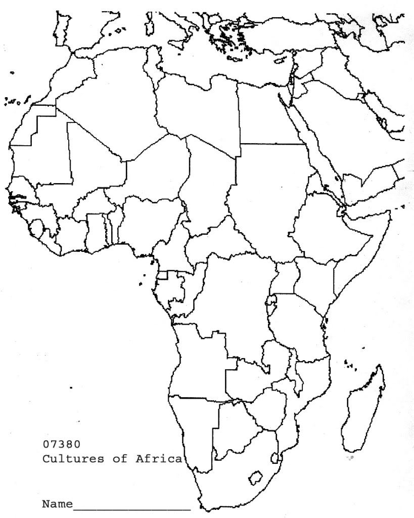 blank map of africa printable blank map african countries diagram outstanding africa blank of map