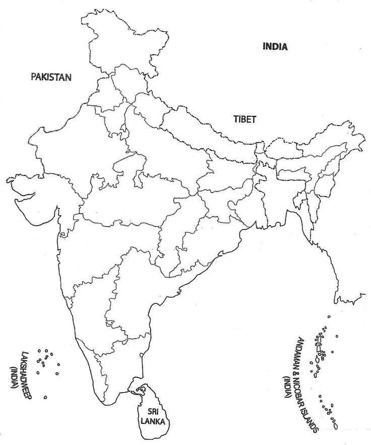 blank map of india india blank outline map coloring page free printable india map of blank