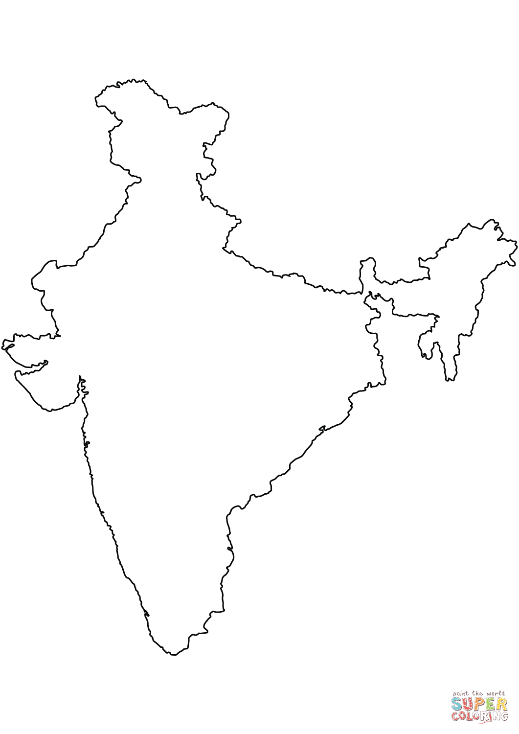 blank map of india india free map free blank map free outline map free blank map of india