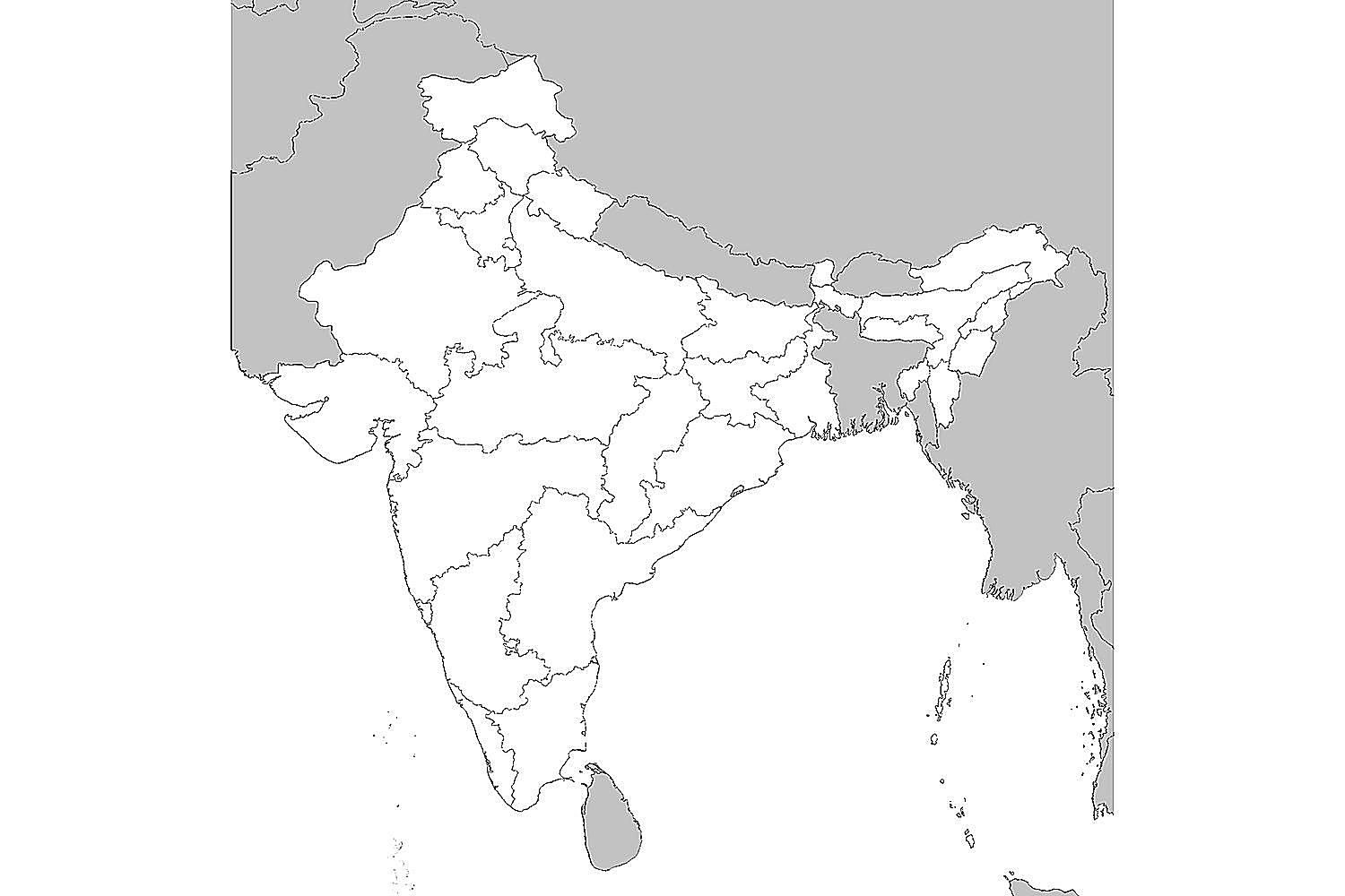 blank map of india physical map of india outline printable printable maps map blank of india