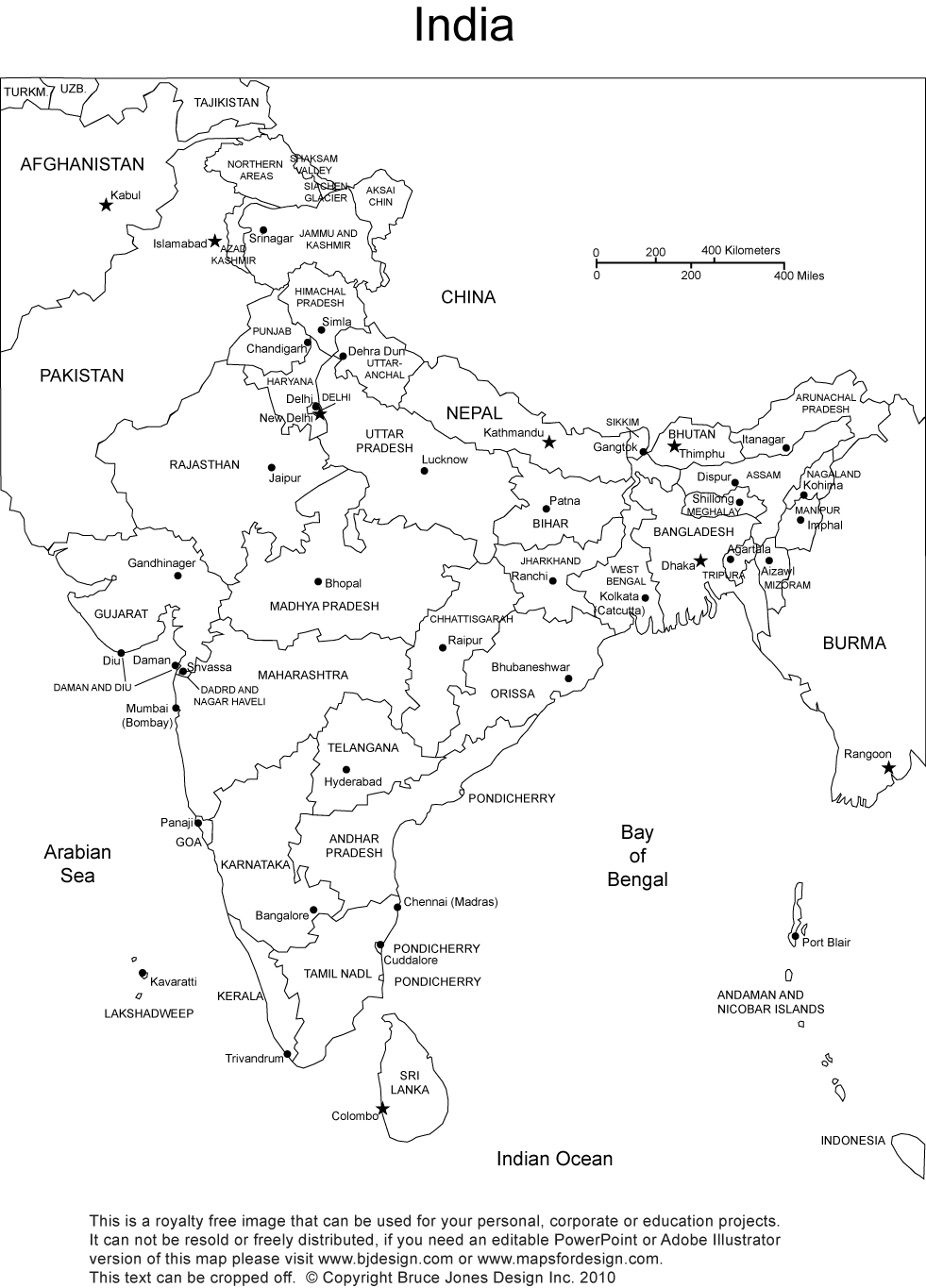 blank map of india physical map of india printable printable maps india map blank of