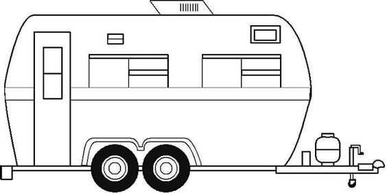 boat trailer coloring pages free camper trailer template or coloring page camper pages trailer boat coloring