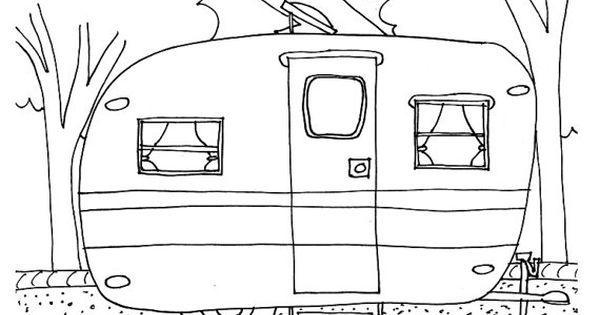 boat trailer coloring pages instant download vintage airstream travel trailer coloring trailer pages boat