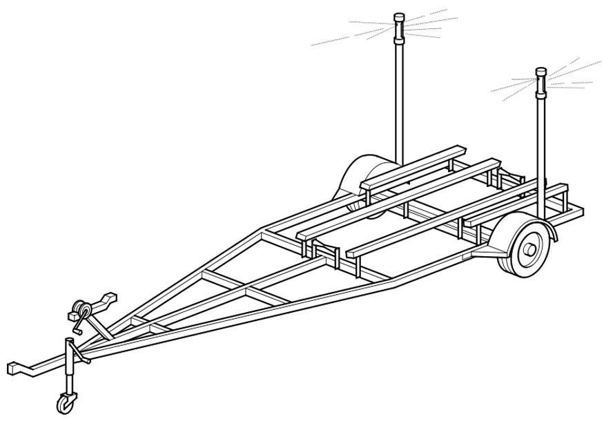 Boat trailer coloring pages