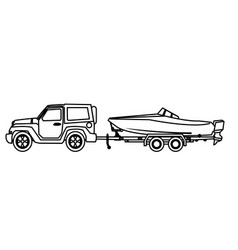 boat trailer coloring pages jeep outline vector images 84 boat coloring pages trailer
