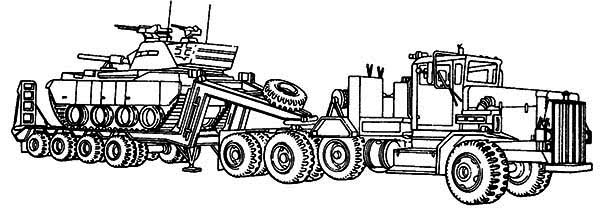 boat trailer coloring pages m911 tractor truck with a het semitrailer in semi truck trailer pages coloring boat