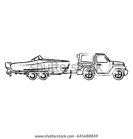 boat trailer coloring pages man fixing car retro clipart illustration stock vector pages coloring boat trailer