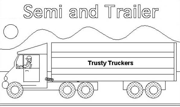 boat trailer coloring pages semi truck and trailer coloring page download print trailer pages boat coloring