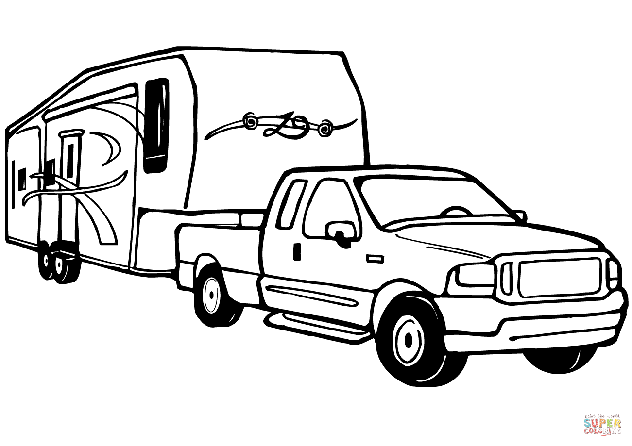 boat trailer coloring pages trailer drawing at getdrawings free download coloring trailer pages boat