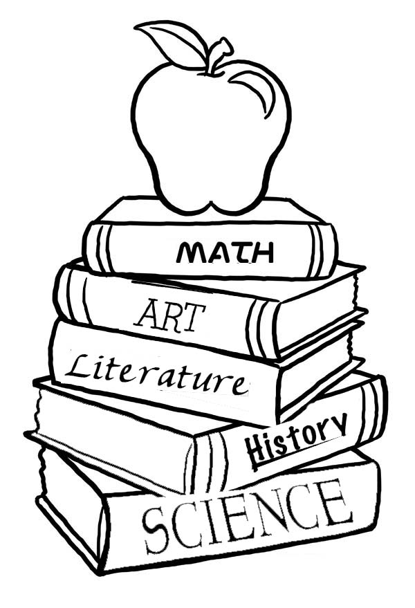 book coloring pages a pile of school books for the first day of school pages book coloring