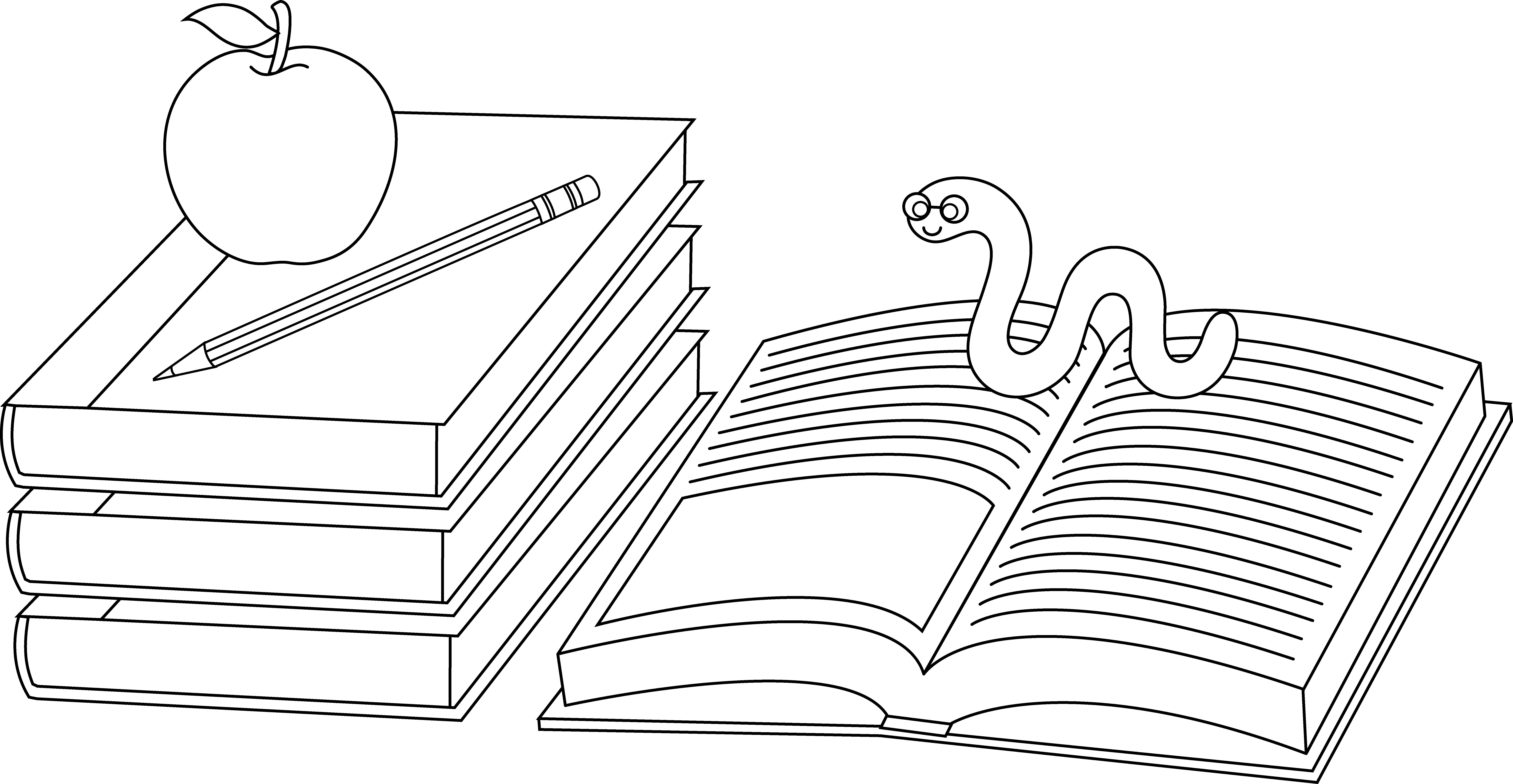 book coloring pages colorable school books and bookworm free clip art book coloring pages