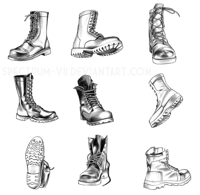 boot draw a study in boots by spectrum viideviantartcom on boot draw