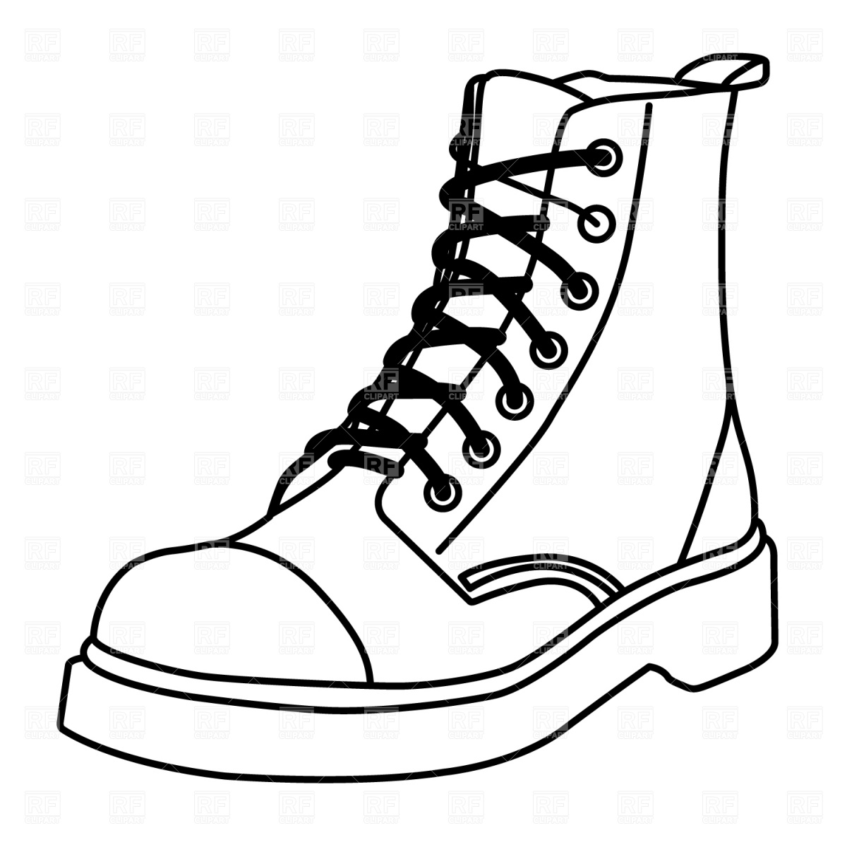 boot draw best work boots illustrations royalty free vector draw boot