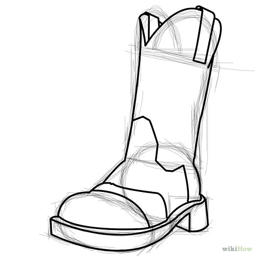 boot draw boot drawing at getdrawings free download draw boot