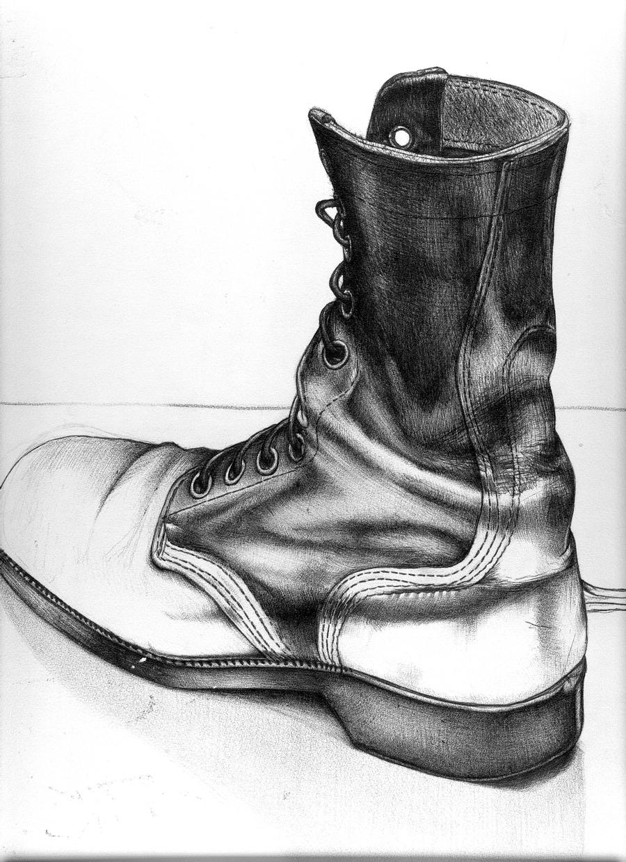 boot draw combat boots drawing at getdrawings free download boot draw