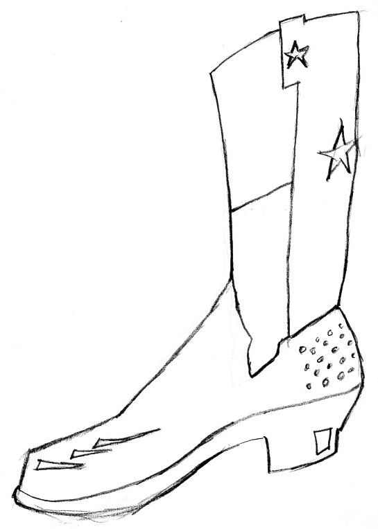 boot draw cowboy boot line drawing at getdrawings free download draw boot