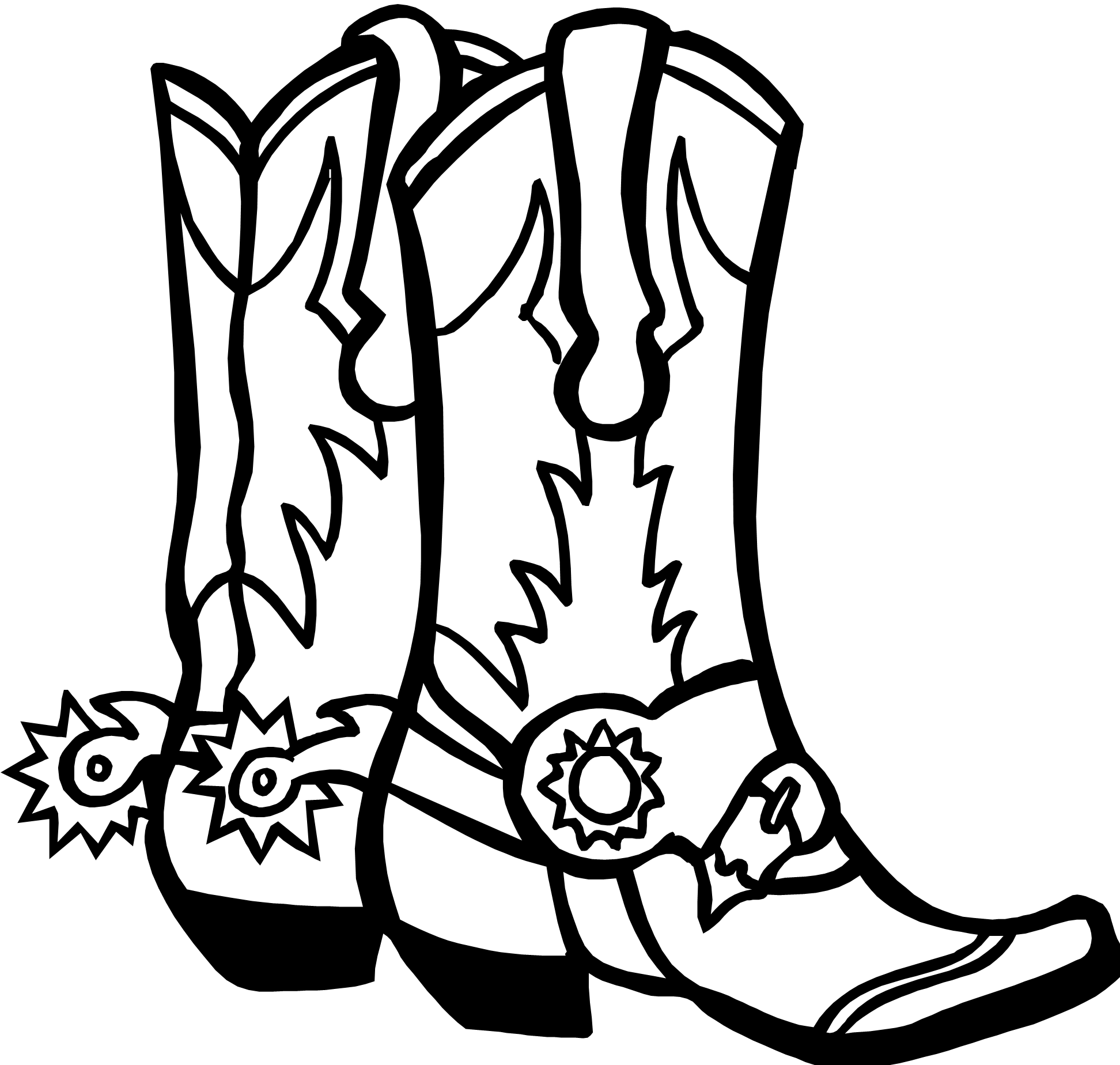boot draw drawings of cowboy boots clipartsco boot draw