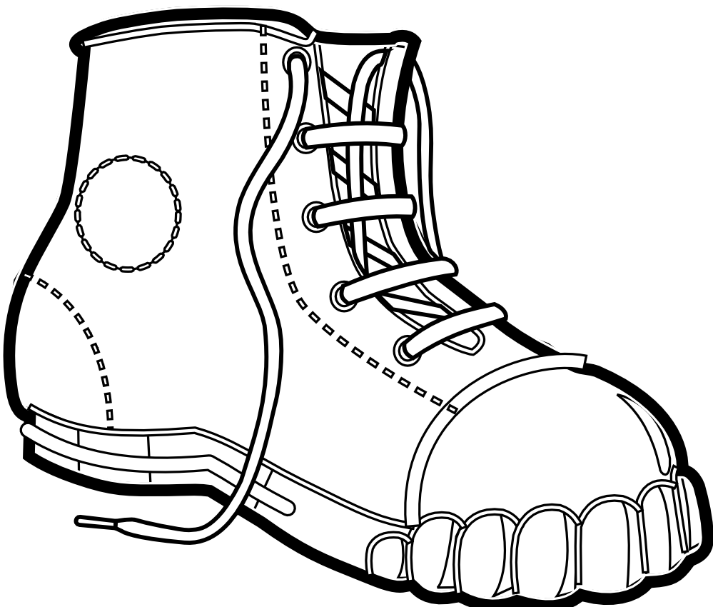 boot draw drawn boots simple draw a boot clipart 499905 draw boot