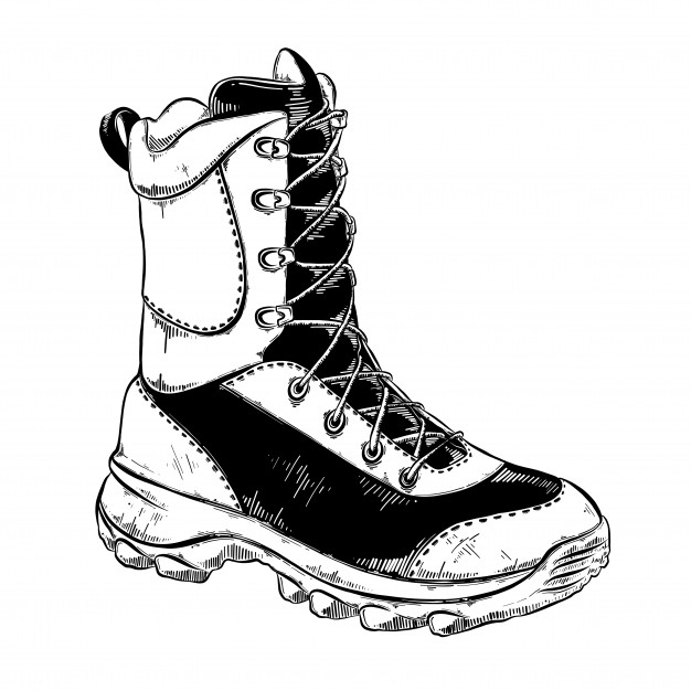 boot draw how to draw a hiking boot step by step drawing tutorials boot draw