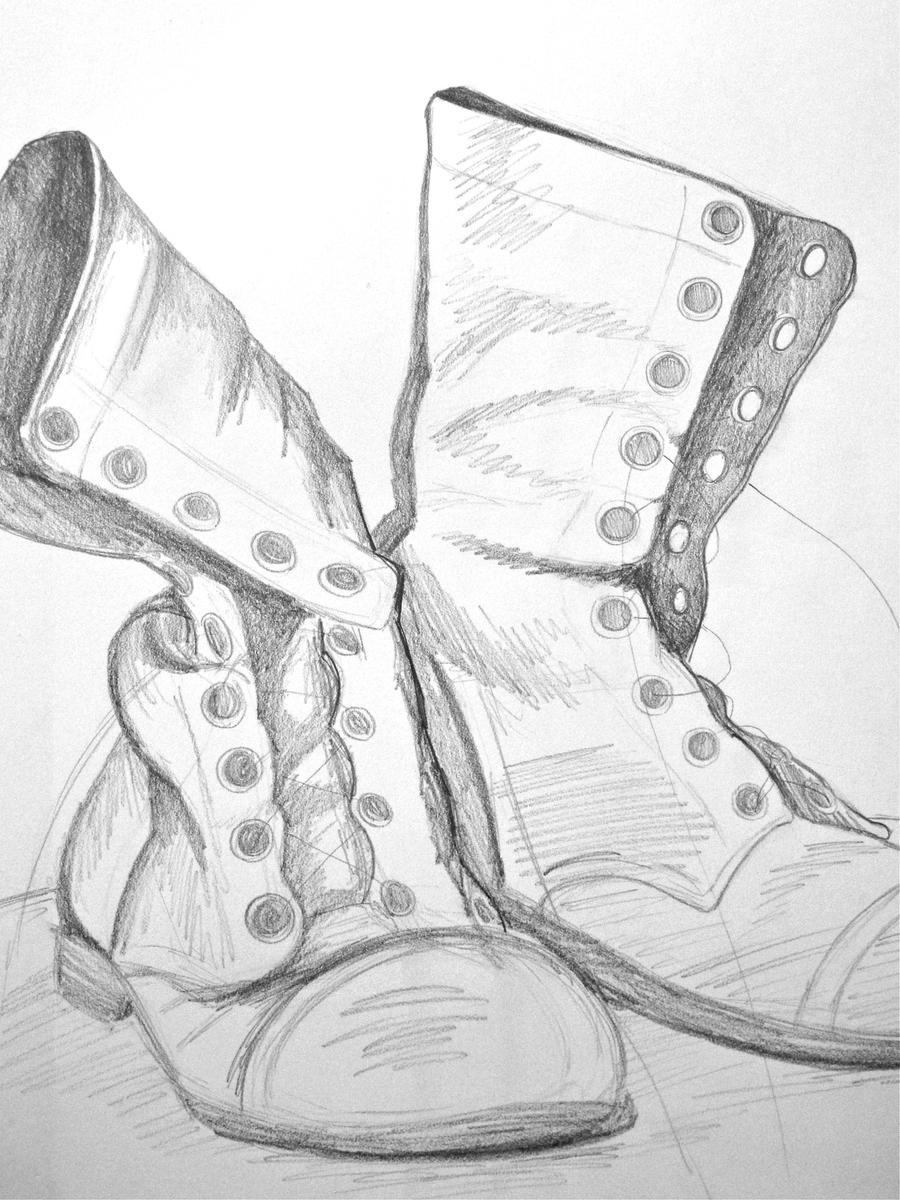 boot draw how to draw boots drawingforallnet boot draw