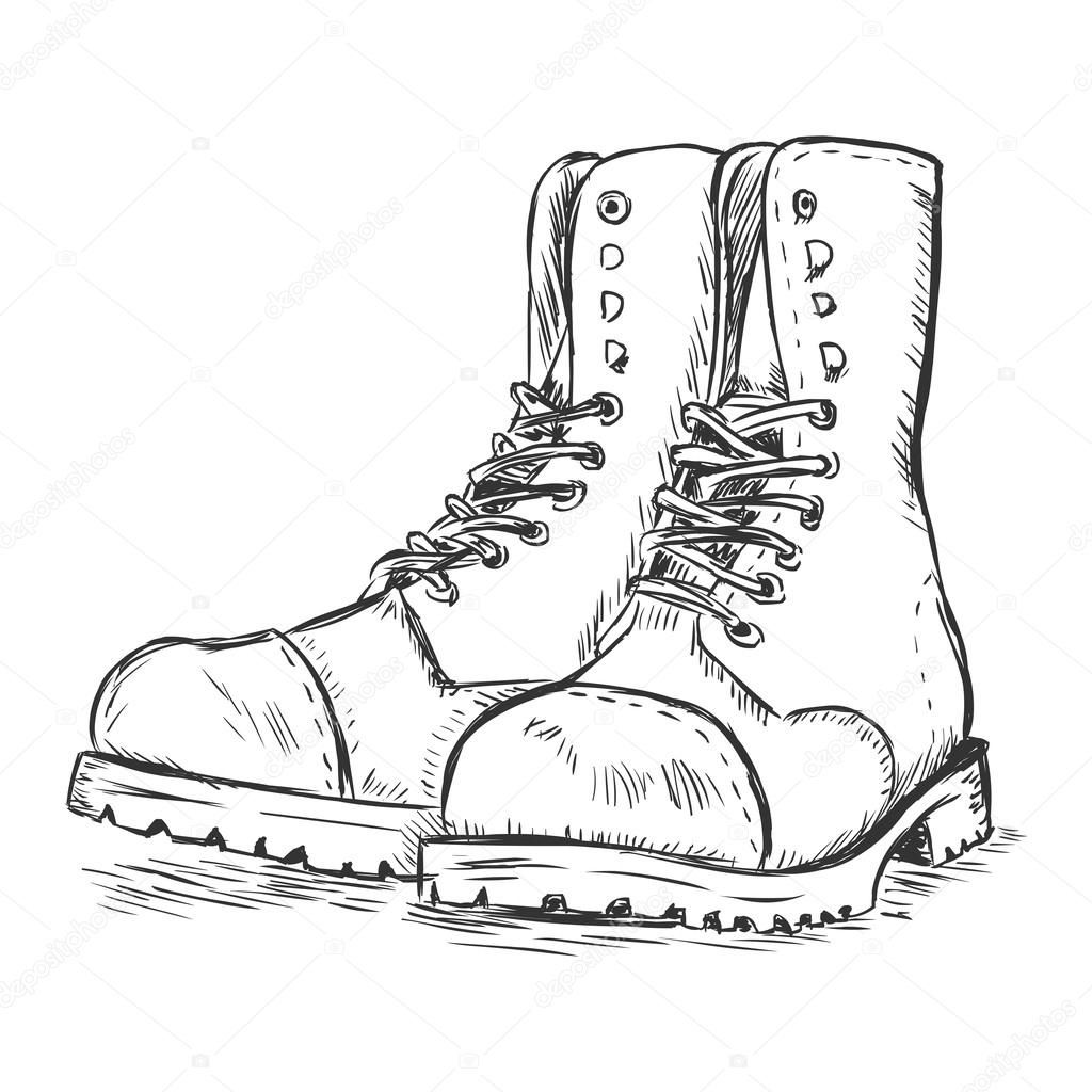 boot draw how to sketching boot draw