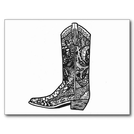 boot draw sketches for 2014 number 24 cowboy boot art fn boot draw