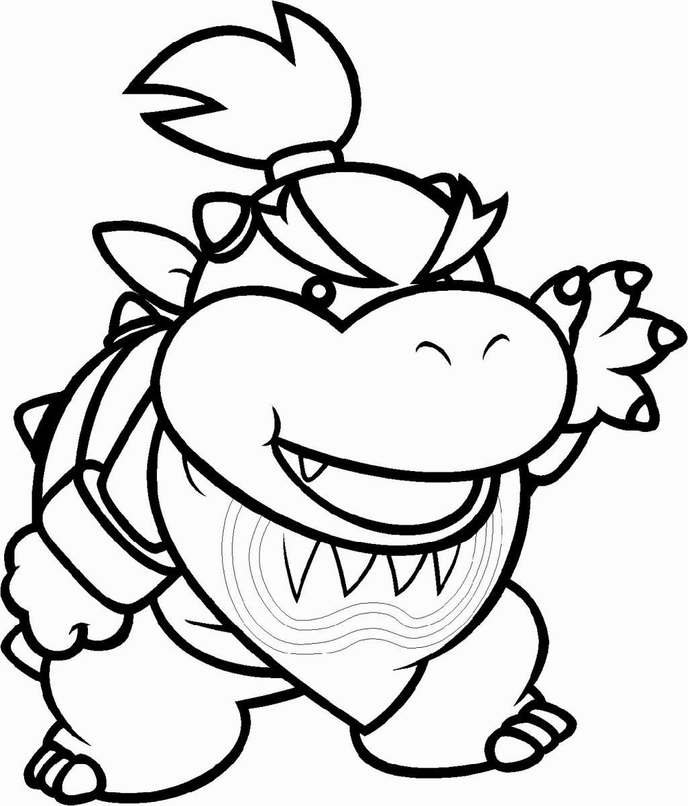 bowser coloring page bowser jr coloring pages printable k5 worksheets page coloring bowser