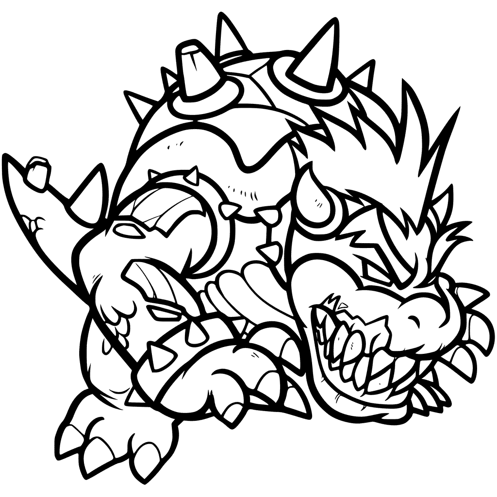 bowser coloring page mario coloring pages for boys at getdrawings free download bowser page coloring