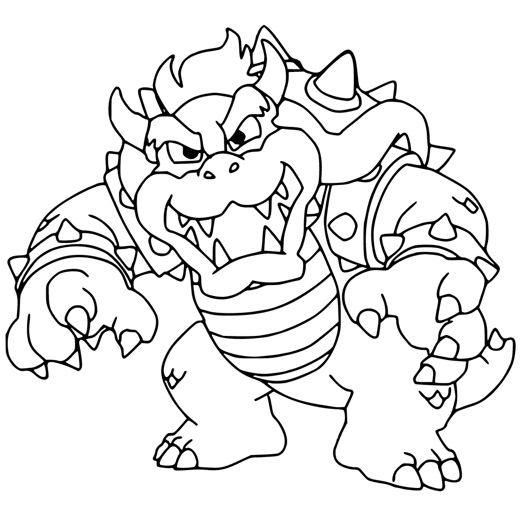 Bowser colouring pages